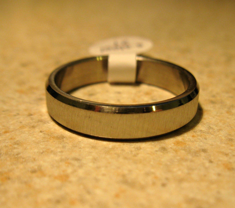 Brushed Silver Wedding Band Ring Unisex Size 9 New #308