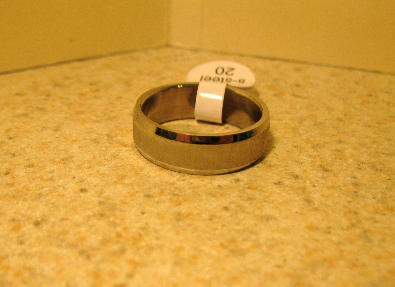 Brushed Silver Wedding Band Ring Unisex Size 11 New #112