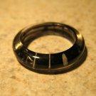 Black & White Stripe Resin Fun Ring To Wear Unisex Sizes 6 NEW! #381D
