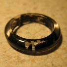 Black & White Resin Stripe & Dot Fun Ring To Wear Unisex Sizes 6 NEW! #381H