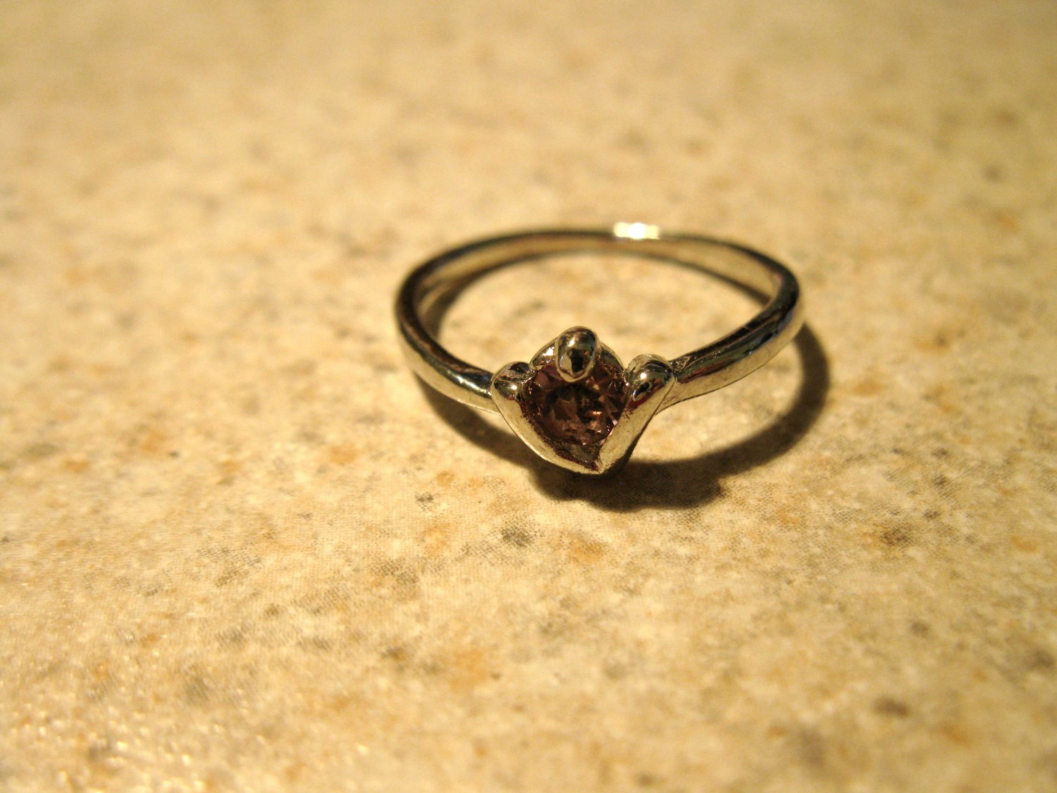 Lovely Pink Sapphire Solitaire Ring Size 7 New! #780