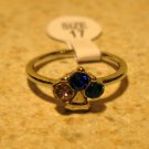 Beautiful Pink & Blue Sapphire with Blue Topaz Ring Size 7 NEW! #244