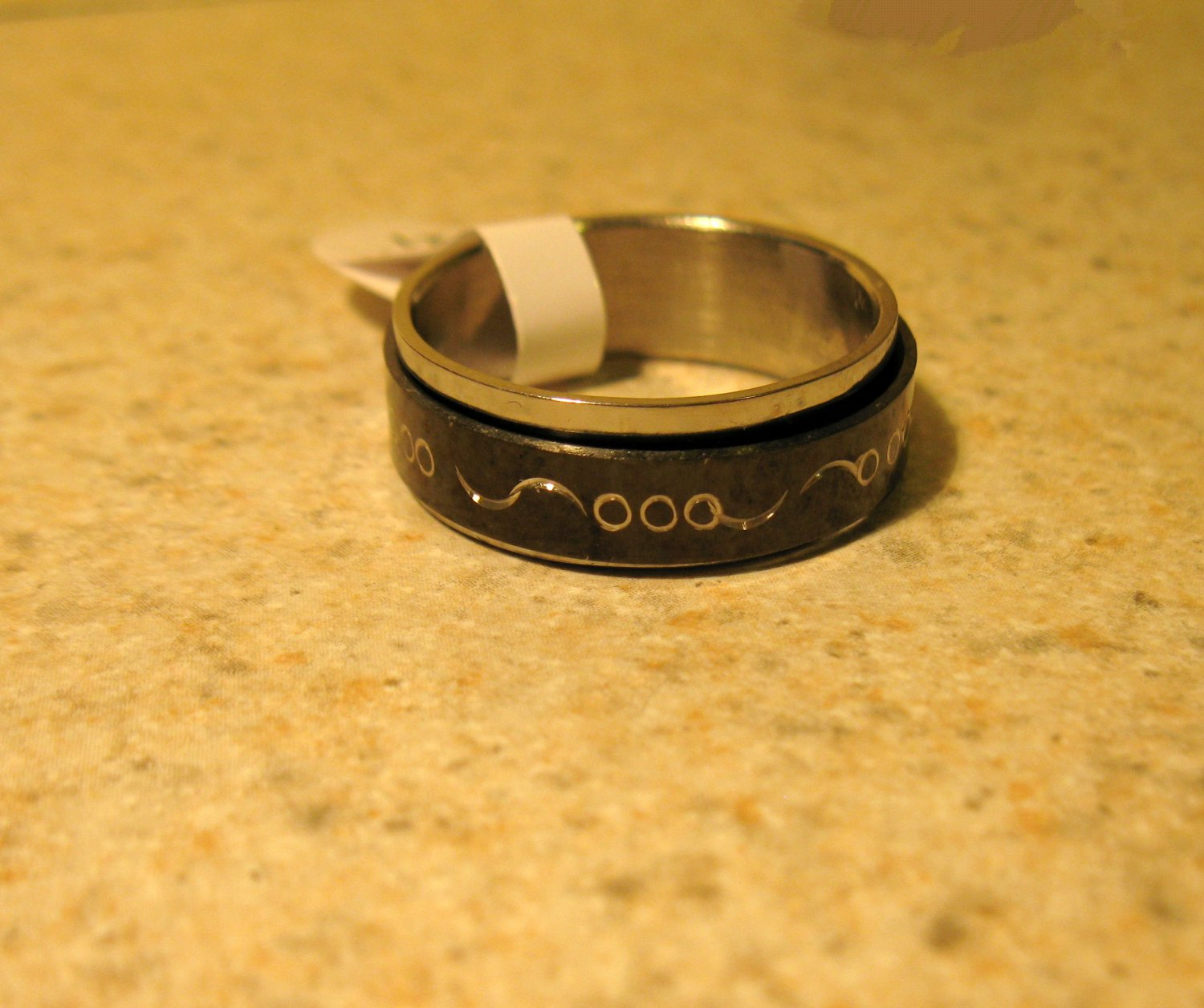 Black Triple Scroll Band Ring Unisex Size 11 HOT! #70