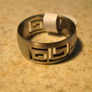 Silver Greek Key Design Band Ring Unisex Size 8 HOT! #662