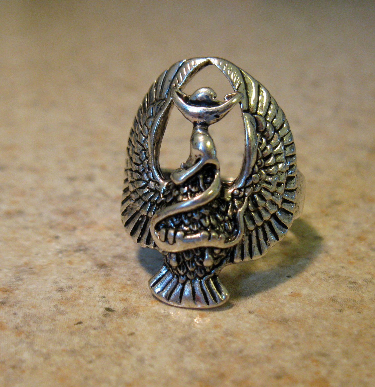 Tibetan Silver Eagle Ring Size 8 HOT! #786