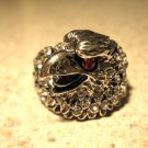 Tibetan Silver Gemstone Eagle Ring Unisex Size 7 HOT! #609