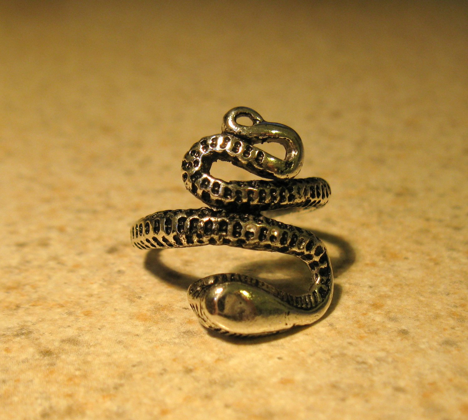 Tibetan Silver Coiled Snake Ring Size 8 HOT! #133
