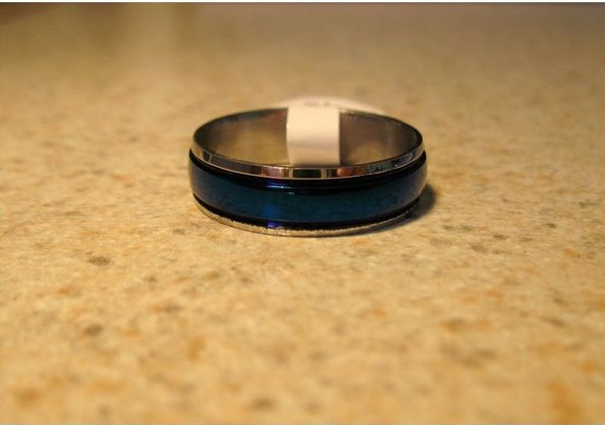 Blue Band Ring Unisex Size 9 HOT! #813