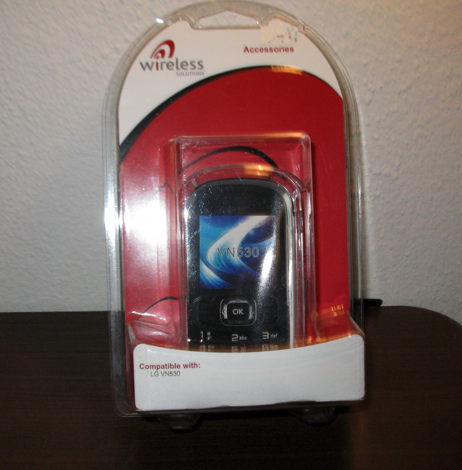 Clear Snap on Plastic Case For LG VN530 Phone New & Sealed #D130