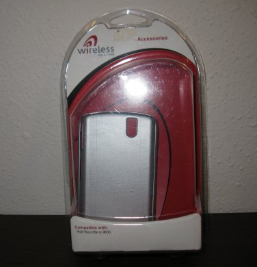 Silver Snap On Cover for Blackberry 9630 Phone New & Sealed #D107
