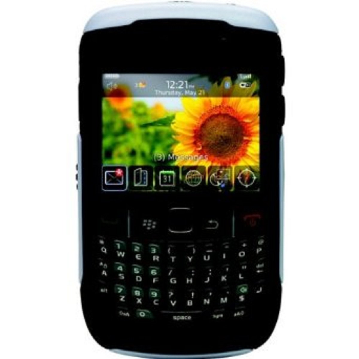 Black Silicone Snap On Cover for Blackberry Curve 8520/8530 Phone New #D81