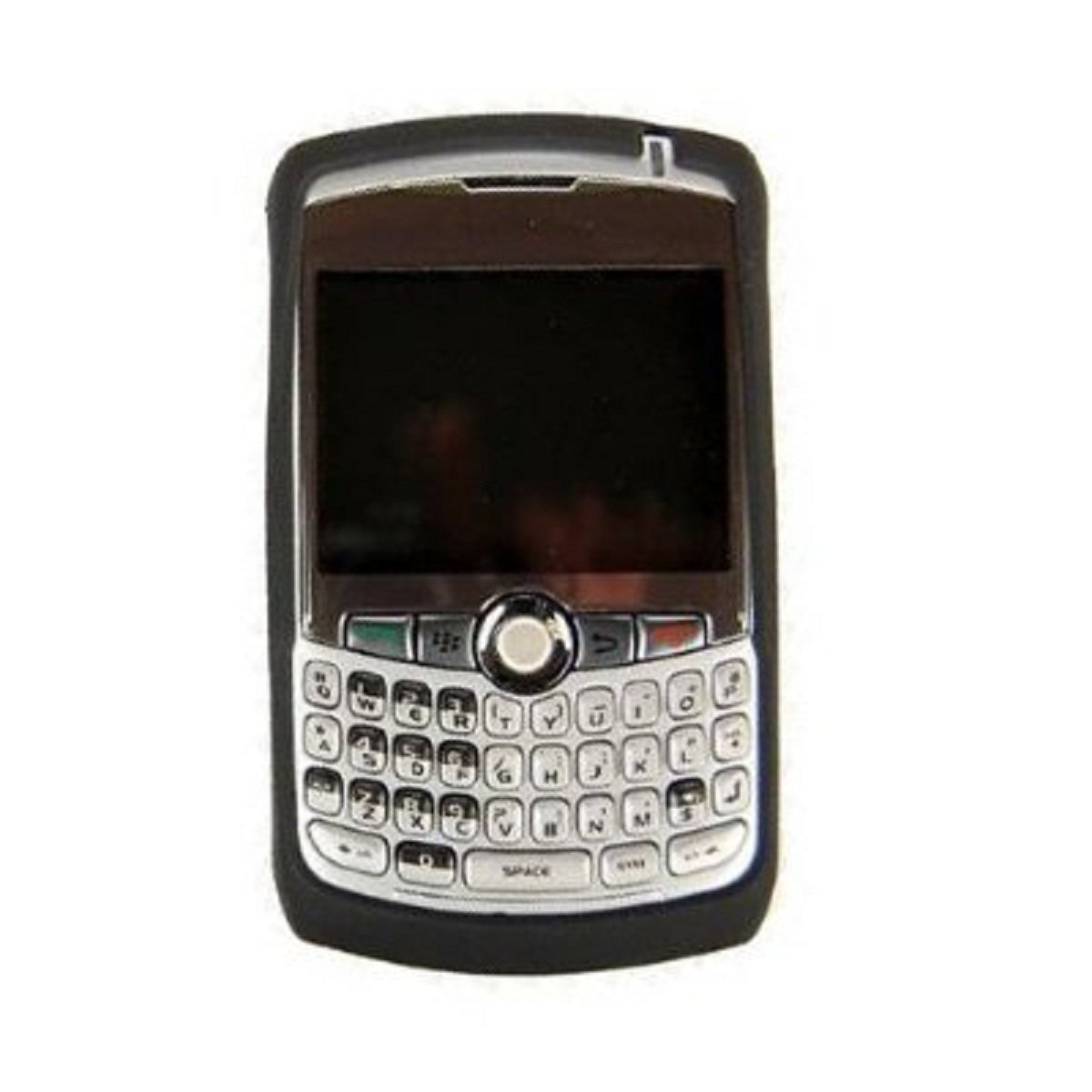 Black Silicone Snap On Cover for Blackberry Curve 8300 Phone New #D71