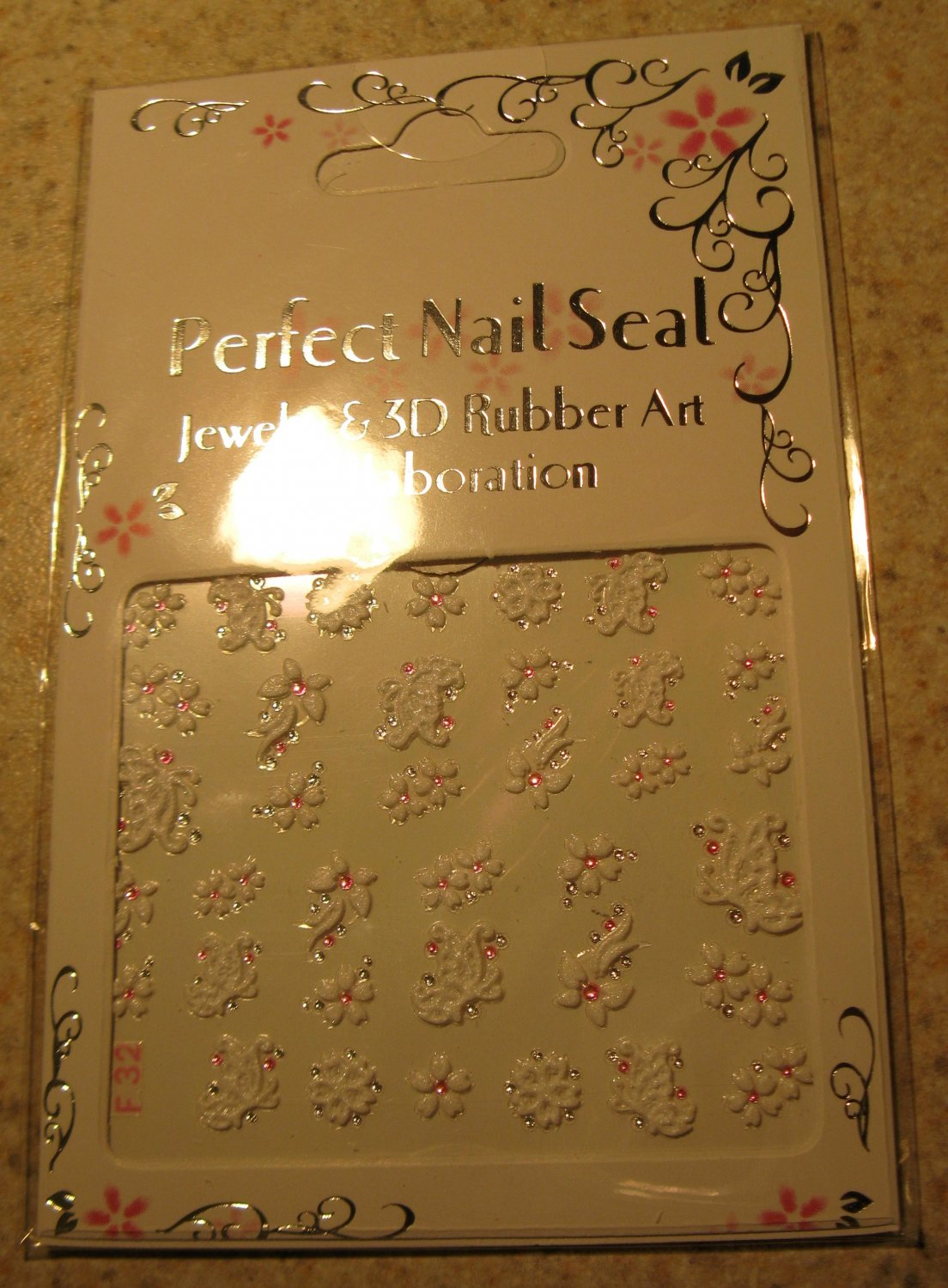 Nail Art White Butterflies & Flowers Design Manicure Decal Stickers #629