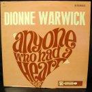 Vinyl LP Dionne Warwick- Anyone Who Had A Heart #7E
