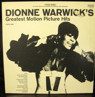 Vinyl LP Album Dionne Warwick- Motion Picture Hits #7D