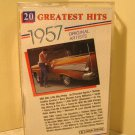 20 Greatest Hits 1957 Original Artists (Cassette, Deluxe) #B24