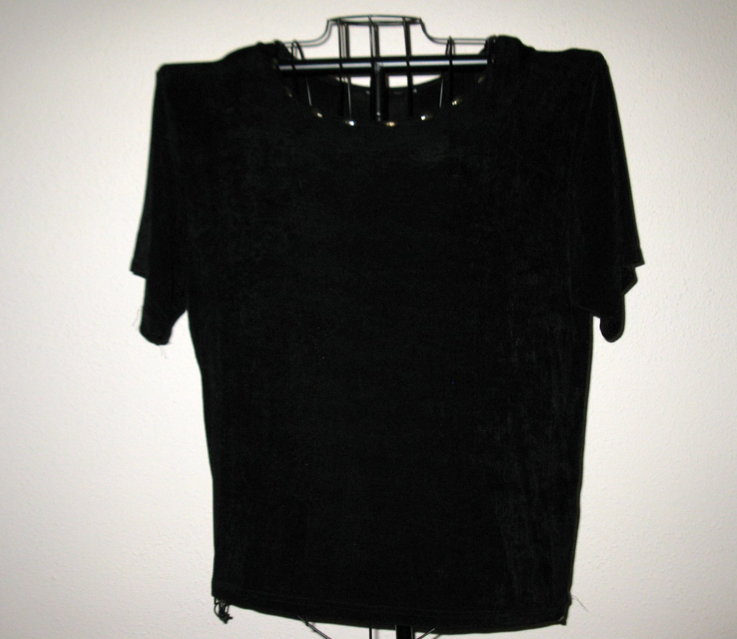 Black Gold Neckline Embellished Top Shirt by Lane Bryant Size 1X
