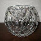 Beautiful Heavy Cut Glass Bowl Nice! #T829