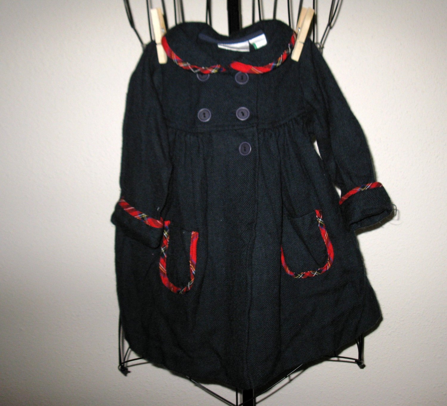 Pretty Navy Blue Lightweight Coat by Little Bitty Child Size 18 mo Nice! #X18