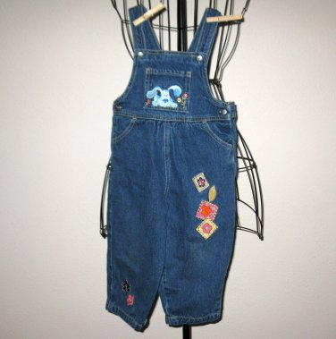 Beautiful Denim Overalls by Ninas with Puppy Embroidery Child Size 2T Nice! #X16