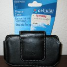 Black Fitted Leather Universal Phone Case by Cellular Innovations New #T885