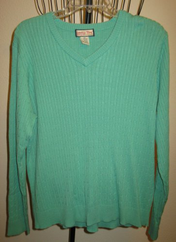 Seafoam Green Sweater by Jamaica Bay Size 3x Nice! #D375