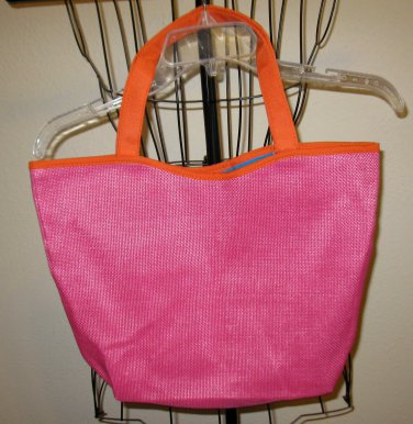 Beautiful Pink Lancôme Lined Tote Bag NEW! #X97
