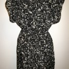 Beautiful Black & Beige Figured Dress with Peek-a-Boo Neck by Mossimo Nice X103