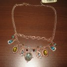 """Beyond The Sea"" Topaz & Peridot Gemstone Necklace by 2028 14.5-17 in New! #K21"