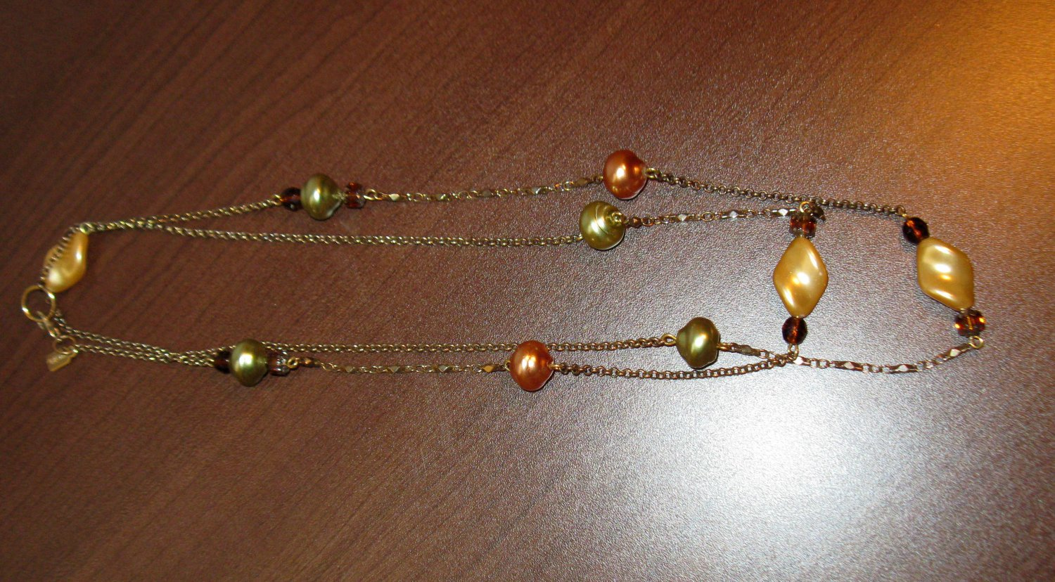 Beautiful Gold & Silver Pearl Necklace by Rachel Nice! #K35