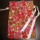 Brighton Multi-Colored Red, Beige Flower Jewelry Bag Pouch New! #K31
