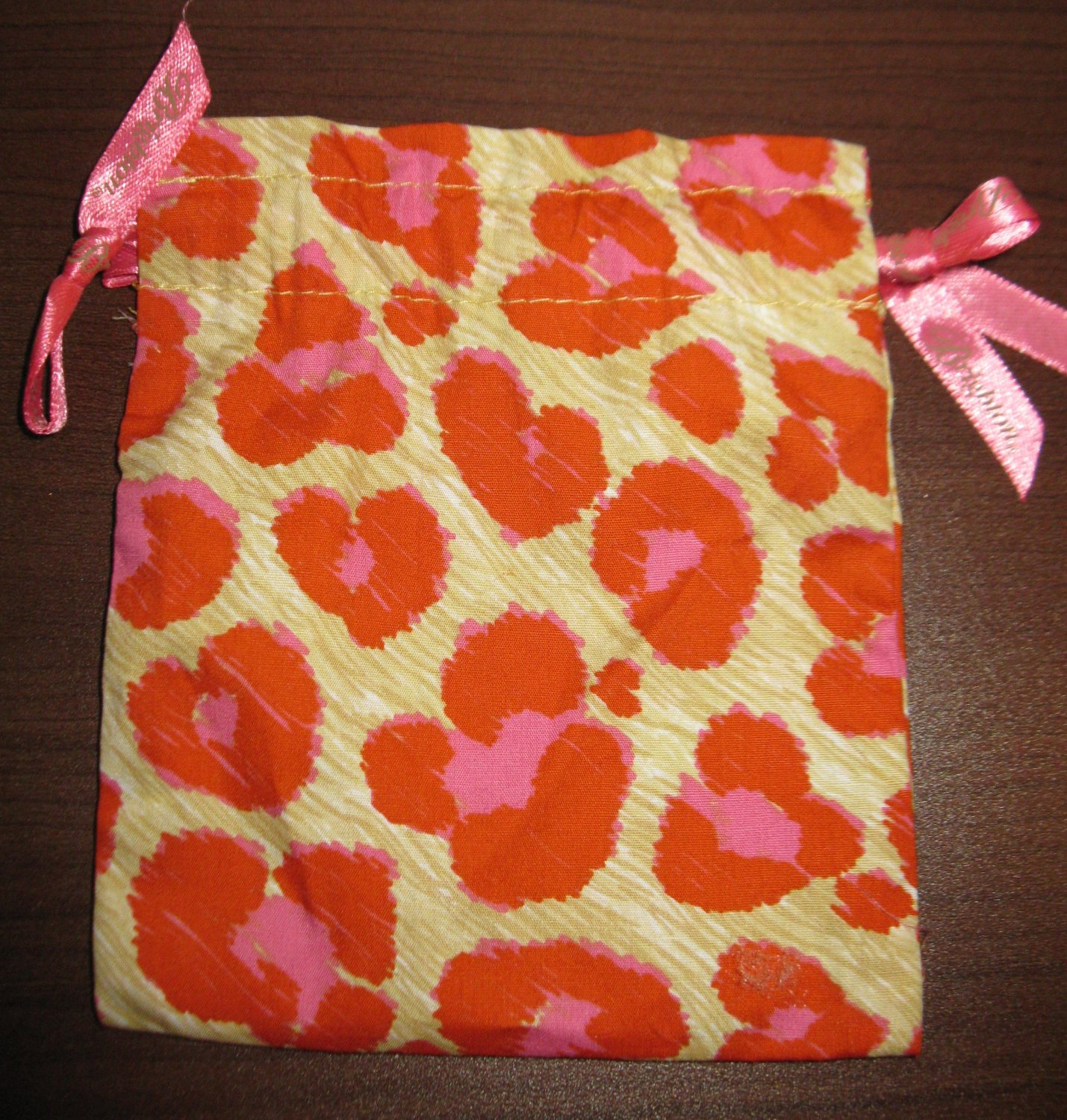 Brighton Multi-Colored Tiger Paw Red, Beige, Pink Jewelry Bag Pouch New! #K30
