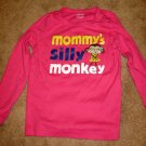 Adorable Pink Silly Monkey Top by Carter's Size 5 Nice! #X140