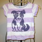 Precious Purple & White Stripe Doggie Shirt by Old Navy Child Size S (6-7) Nice!