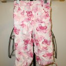 Adorable White with Pink Heart Pants Size 4 Nice! #X74