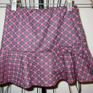 Beautiful Black & Pink Skirt with Stars by Knit Works Child Size 6X Nice! #X68