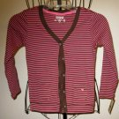 Beautiful Pink & Brown Striped Top by Oshkosh Child Size 5 New! #X53