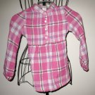 Beautiful Pink Plaid Top by Place Child Size S (5-6) Nice! #X50