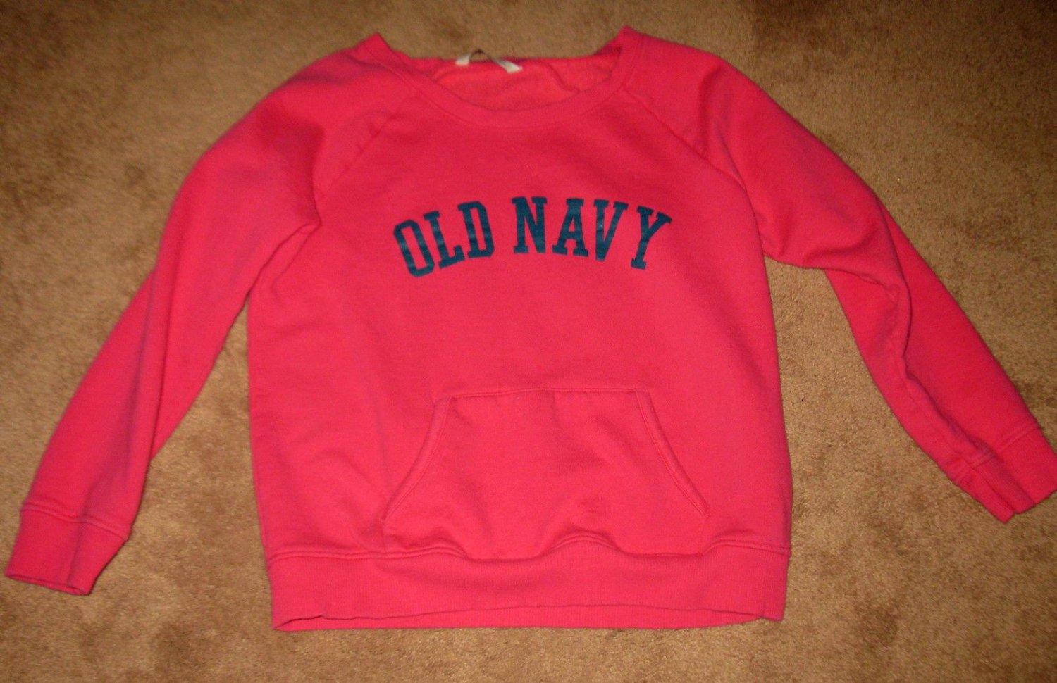 Pink Sweat Shirt Top by Old Navy Long Sleeves Top Size L Nice! #X153