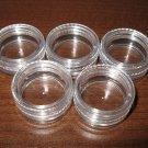 Empty 3 gram Clear Plastic Jar Lot of 5 Jars New #D407