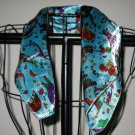 Colorful Blue Circus Design Neck Scarf New! #D553