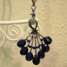 Lovely Blue Sapphire Peacock Necklace New! #D520