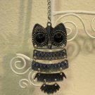 Pretty Black Onyx Owl Necklace New! #D521