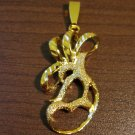 Gorgeous Gold Florentine Pendant NEW! #D583