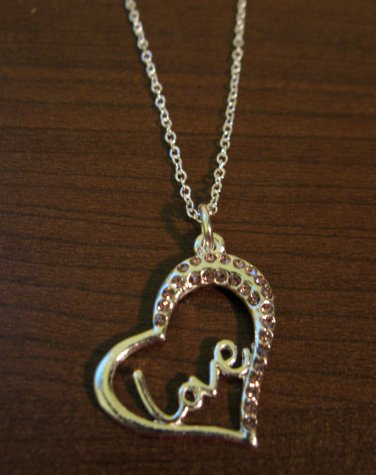 Sizzling Pink Sapphire Love Heart Necklace & Pendant NEW! #D593