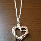 Stunning Pink Sapphire Double Heart Necklace & Pendant NEW! #D561