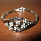 Brilliant Silver Diamond Spray Bangle Bracelet New #D515