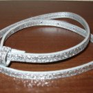 Beautiful Silver Metallic Adjustable Belt Child Size 23-27 in Nice! #X217