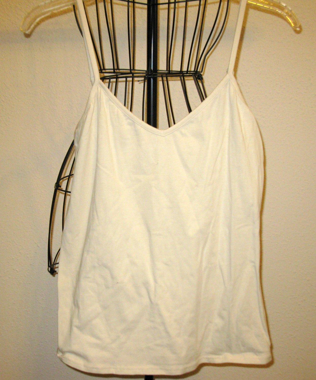 Off White Spaghetti Strap Top Blouse by Lane Bryant Size M Nice! #X193