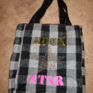 Adorable Black & Grey Rock Star Tote Bag Carry All for Child/Adult New! #X204